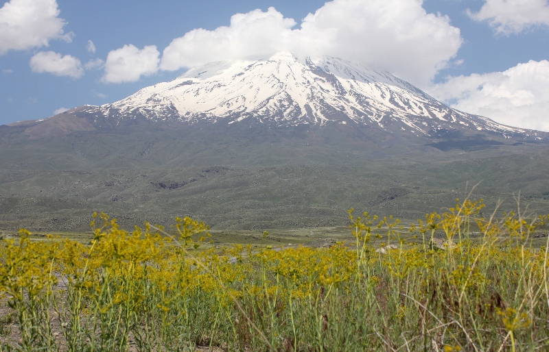 Mount Ararat in June, snow line at 3800 meters